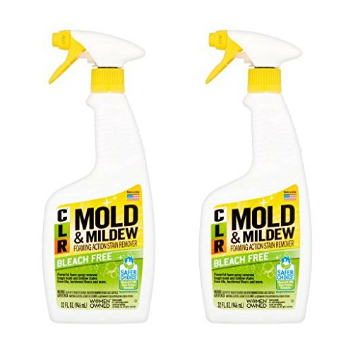 CLR Bleach-Free Mold & Mildew Spray, Foaming Stain Remover, 32 fl. oz. - 2 Pack (Without Mildew Remover Bleach)