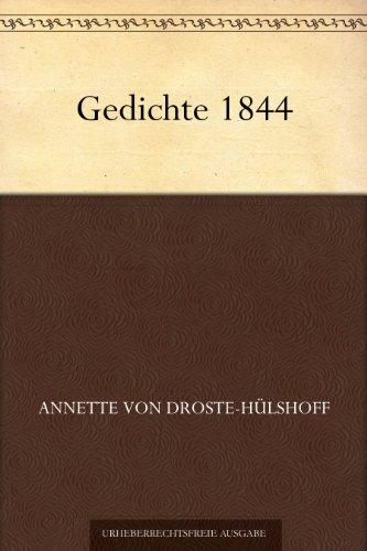 Amazoncom Gedichte 1844 German Edition Ebook Annette