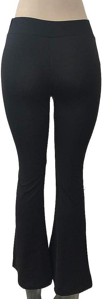 /, Kobay Le Donne Moda Solid Elasticit/à Leggings Pantaloni a Zampa delefante