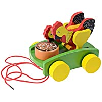 Lakshya-Chicken Pull Line Car Baby Kids Early Walking Toy Vehicles Baby