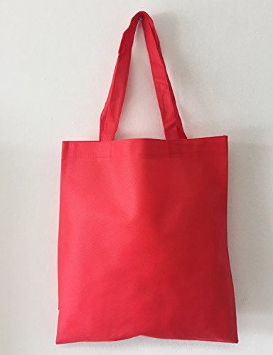 Set of 50 Wholesale Cheap Budget Promotional Tote Bags (Red)