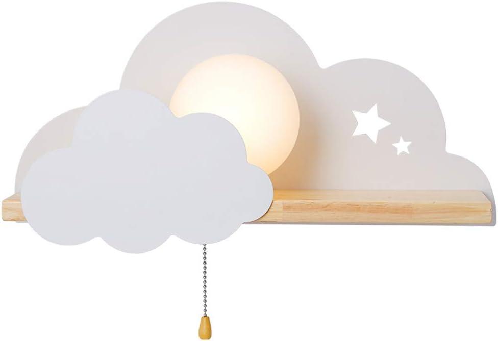 L/ámparas Decoraci/ón Casera para la sala de estar Dormitorio de las Muchachas AKBOY LED Nube Modelado L/ámparas Luces L/ámparas de Pared Infantiles Iluminaci/ón Infantil Nocturna Apliques de Pared
