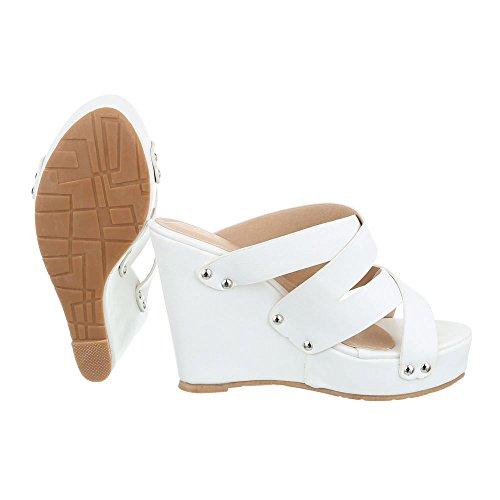 Weiß y baile de jazz contemporáneo zapatillas Ital Design Mujer TqOwCHv