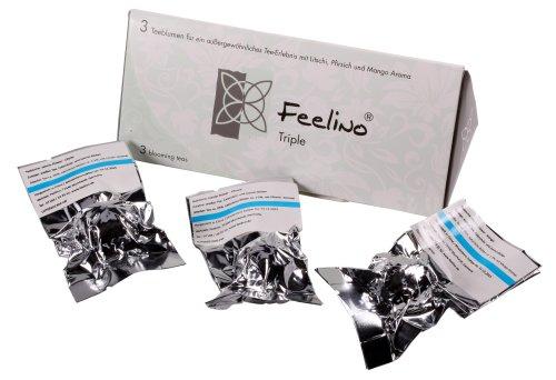 Feelino 3er-Box Weißtee-Teeblumen mit Litschi, Mango- und Pfirsich-Aroma