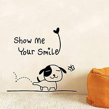 Smile wall Vinyl Sticker Decal quote Decor Cute Happy