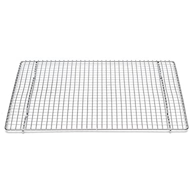 Professional Cross Wire Cooling Rack Half Sheet Pan Grate - 16-1/2  x 12  Drip Screen 2 Pack