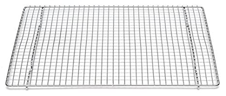 "Professional Cross Wire Cooling Rack Half Sheet Pan Grate   16 1/2"" X 12"" Drip Screen 2 Pack by Libertyware"