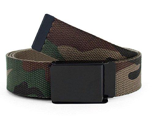 Aves Designs Unisex Men/Women Green Camo Cotton Fabric Belt Size Medium