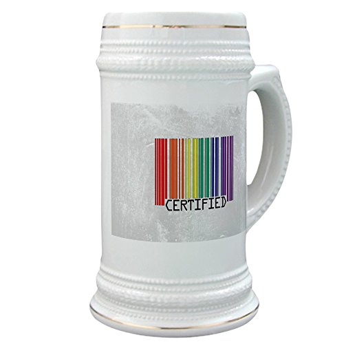 Stein (Glass Drink Mug Cup) Gay Certified Pride Bar Code