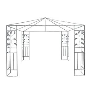 New MTN-G 10'x10' Outdoor Patio Gazebo Stand Steel Frame Canopy Cover Leaf Design
