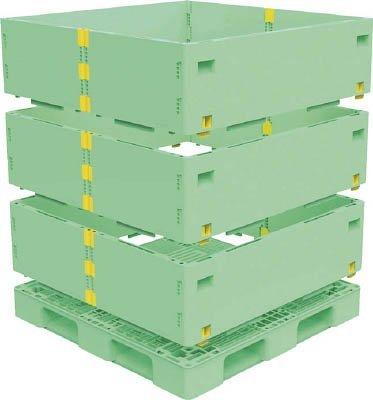 トラスコ中山 マルチステージコンテナ 3段 1100X1100 緑 (1S) TMSC-S1111-GN B01E4S0PUI