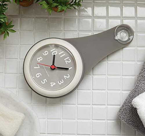그레이 욕실 시계 방수 시계 벽시계 벽시계 빨판있는 방수 저소음 욕실 주방 욕실 가정용 멋쟁이 귀여운 심플한 인테리어 북유럽 디자인
