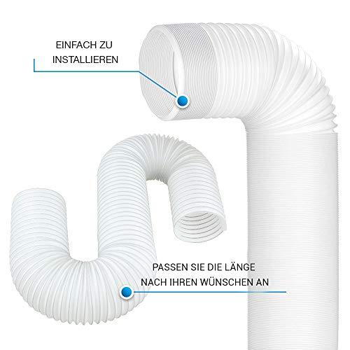5m PVC Schlauch für Klimaanlage Klimagerät Abzugshaube Abluftschlauch 125mm