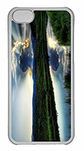 iPhone 5C Case, Personalized Custom The Sun Hides Behind A Cloud for iPhone 5C PC Clear Case