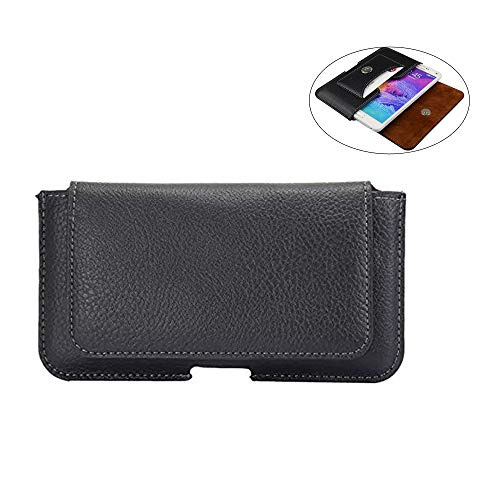 PU Leather Slim Cell Phone Belt Loop Holster Pouch Case w/Card Slot Holder for Galaxy Note10 S10 S10e S9 S8 S7 Edge J7…