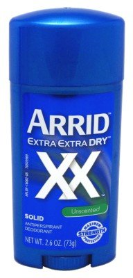 Arrid Deodorant 2.6oz Solid Extra Extra Dry Unscented (3 Pack) 08461
