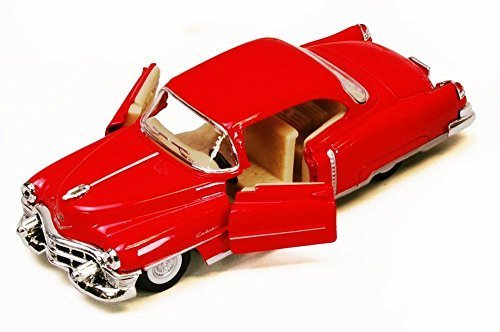 1953 Cadillac Series 62, Red - Kinsmart 5339D - 1/43 scale Diecast Model Toy Car (Brand New, but NO BOX)