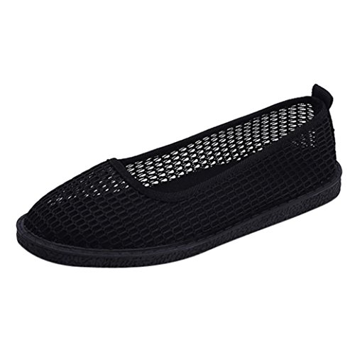 Hollow Console - Gyoume Teen Girls Hollow Flat Shoes Women Slip-on Shoes Low Heel Shoes Summer Outdoor Shoes Lady Round Toee Shoes (US:7, Black)