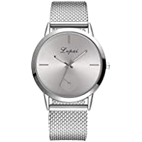 Clearance Sale Womens Crystal Gold Boyfriend Watch Grey Leather Strap Watches