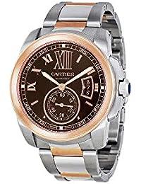 Calibre De Cartier Chocolate Brown Dial Mens Watch W7100050