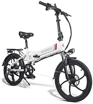 SRXH - Bicicleta eléctrica plegable de 350 W con motor de 20 pulgadas y 25 km/h,