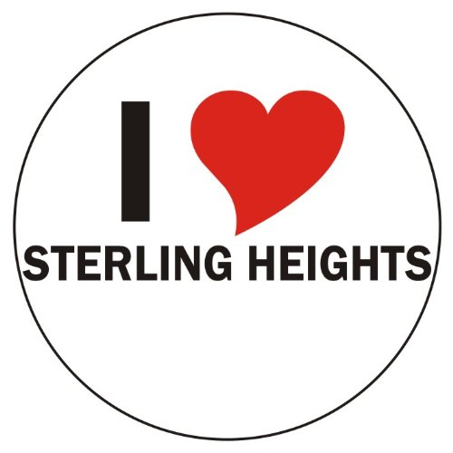 I love Sterling Heights Car Sticker / Decals / Bumper Sticker - 8 cm / 3,14
