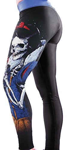 [Anmengte Halloween Masquerade Party Cosplay Costume Legging 3D Printed Pants (one size)] (Childrens Dressing Up Knights Outfit)