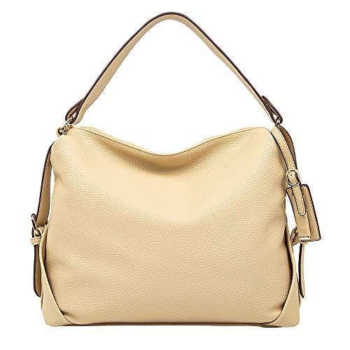 Leather Tote Bag,DDDH Hobo Bags Purses Shoulder Handbag for Women (Khaki1214)