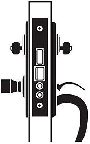 2.75 Backset Entry Handled Lever Mortise Lock