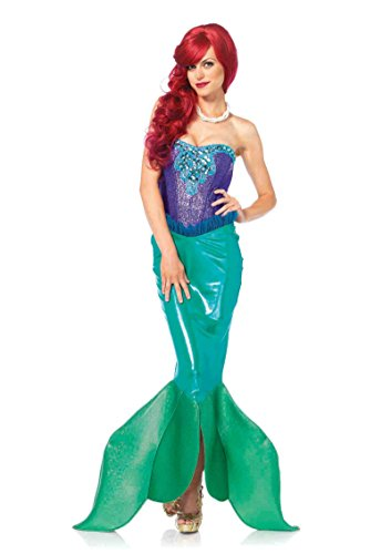[85368Ladies Medium Adult Ariel Costume Deep Sea Siren Mermaid] (Adult Ariel Costumes)