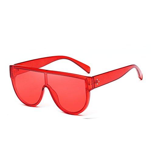 Sombras Enormes Gafas Unas C4 C5 Uv400 Red Rosa Red De Negro Gafas De Espejo Sol Square Rojo Mujer Sol TIANLIANG04 4R1w7CqWnR
