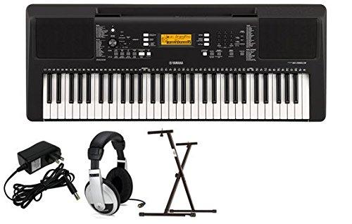 Yamaha PSRE363 Premium Keyboard Package with YXKS Stand by YAMAHA