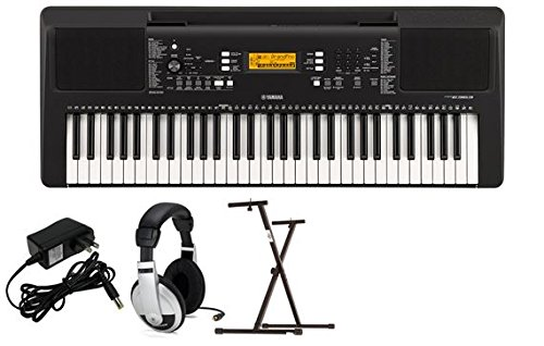 Yamaha PSRE363 Premium Keyboard Package with YXKS Stand ()