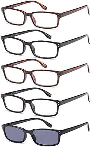 580a47b0112 GAMMA RAY Readers 5 Pair Readers Quality Spring Hinge Reading Glasses -  Choose Your Magnification
