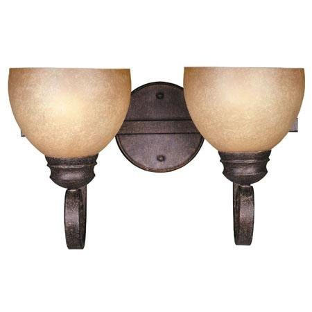 Sutton Collection Hand-forged Iron Bath Bracket In Iron Oxide Finish - 2 Bulbs (Oxide Finish Iron 38)