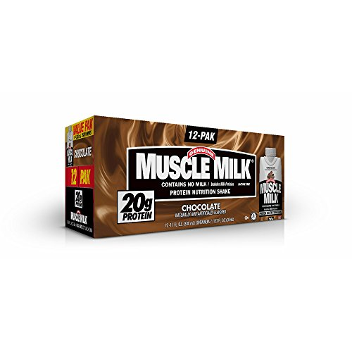 Genuine Muscle Milk Chocolate, 12 pk./11 fl. oz. (pack of 6) by Genuine