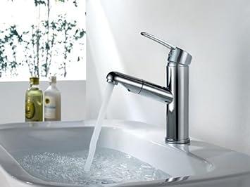 Schön Amzdeal® Wasserhahn Waschtischarmatur Bad Chrom Einhandmischer Waschbecken  Ausziehbar Kopfbrause Haarewaschen Waschtisch Badezimmer Armatur B2