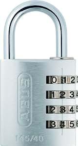Abus 488146 145/40 - Candado de combinación, color plateado