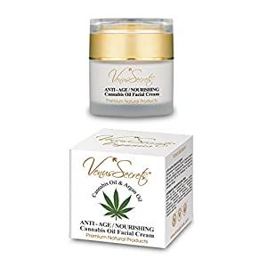 Face Cream – Anti Ageing Moisturiser for Women with Hemp Oil – 50ml – Daily Skincare – for Dry, Sensitive & Oily Skin