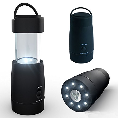 Compact Multi-function LED Flashlight/Lantern + FREE Carry Bag! Lightweight Compact Pop-up Design. 3 Modes Ideal for Home Emergency, Power Outage, Children's (Night Ops Flashlight)