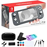 Newest Nintendo Switch Lite - 5.5 inch Touchscreen Display  Built-in Plus Control Pad  iPuzzle 9-in-1 Carrying Case  Built-in Speakers  3.5mm Audio Jack  802.11ac WiFi  Bluetooth 4.1  0.61 lb - Gray