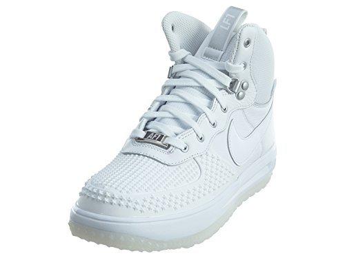 Nike Lunar Force 1 Duckboot (GS) Big Kids Shoes White/White 882842-100 (7 M US) -