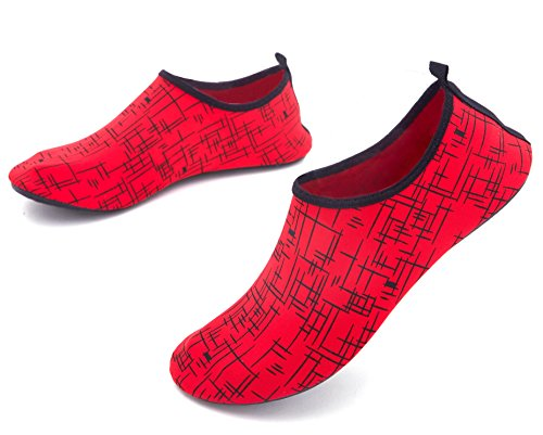 Giotto Barefoot Water Shoes Yoga Beach Swim Aqua Shoes For Women Men D-red WObG0eh