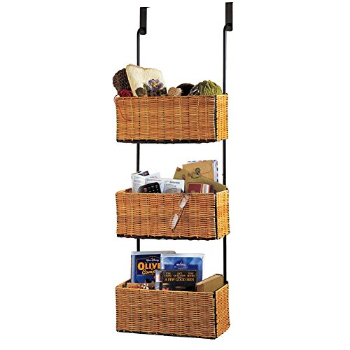 Over Door Rack Baskets Brown