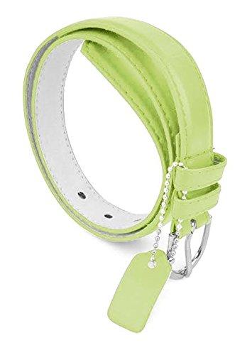 - Belt Belts PU Leather Belt For Girls 1 inch Dress Belt - Light Green/Medium