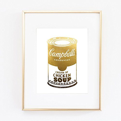 Campbell's Soup Andy Warhol Poster Gold Foil Print Wall Art Home Office Wall Decor poster 0467
