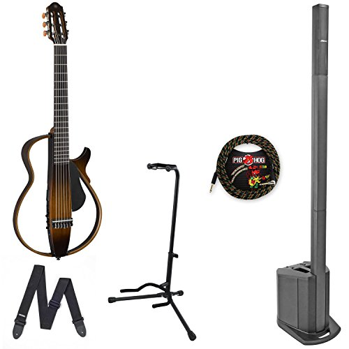Bose L1 compact & Yamaha SLG200N Nylon String Silent Guitar w/ Cable & Stand - Bundle