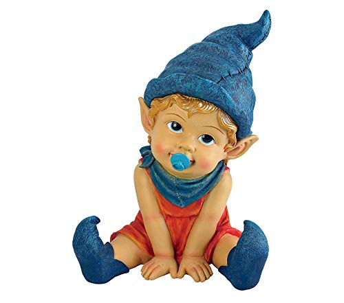 Outdoor Garden Backyard Décor Patio Premium Garden Gnome Statue - Archibald The Baby Gnome - Lawn Gnome Decorative Design
