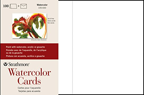 - Strathmore (105-650 Watercolor Cards Full Size Cold Press, 100 Envelopes