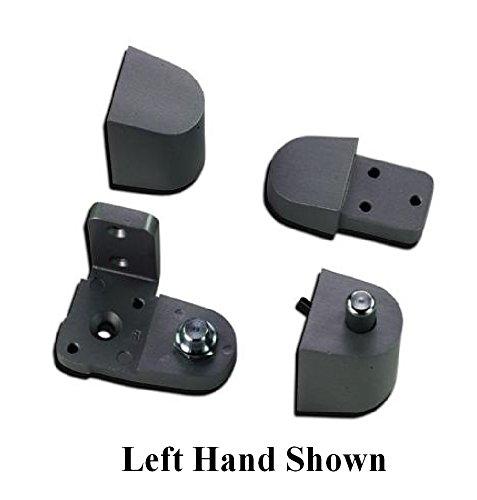 Pittco / PPG Style Aluminum Storefront Door Pivot Hinge Set - Choose Handing & Finish (Left Hand in Dark Bronze) (Left Hand Door Hinge)